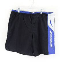 Vintage Speedo Spellout Swim Trunks Embroidered Shorts Blue Mens Size Large L