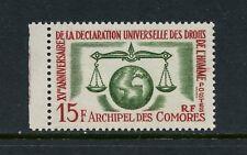 P374  Comoro Islands  1958   Human Rights   1v.  MNH