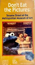 Sesame Street: Don't Eat the Pictures VHS,1994 Metropolitan Museum RARE NEW