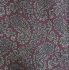Burgundy Tan Green Paisley CALABRESE Ascot Cravat Silk Hand Made in ITALY