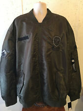 New Southpole Big and Tall Bomber Jacket Olive Green w/ Patches 6XB 6XL 6X