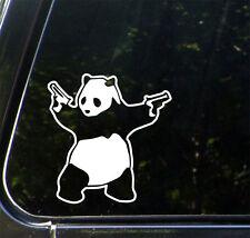 "CAR - Shooting Panda - Vinyl Car Decal Sticker (5.75""w x 6""h)(Color Choice)"