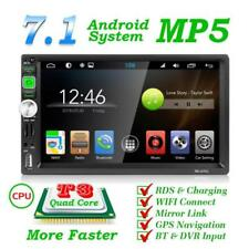 """Android 7.1 Bluetooth Car Stereo Radio 2 DIN 7"""" MP5 Player GPS Wifi Rear Camera"""