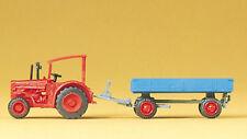 PREISER 79502 Tracteur Hanomag avec remorque tractor with trailer N 1:160 NEUF