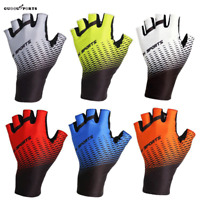 Short Finger Cycling Bike Gloves Gel Pad Shockproof Bicycle Mitts Fingerless