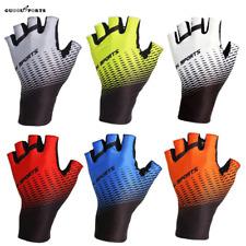 Short Finger Cycling Bike Gloves Gel Pad Shockproof Bicycle Mitts Fingerless