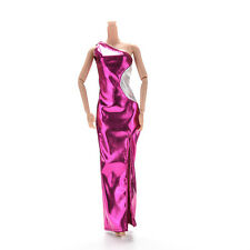 1 Pcs Vest Purple Single Shoulder Dresses Cheongsam for Barbies Princess Doll C5
