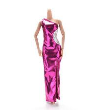 1 Pcs Vest Purple Single Shoulder Dresses Cheongsam for Barbies Princess DollCAE