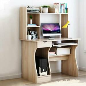 Computer Desk with Drawer Shelves Desktop PC Table Home Office Laboratory Pro