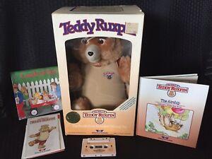 VINTAGE 1985 Teddy Ruxpin Worlds of Wonder Talking Bear New In Original Box