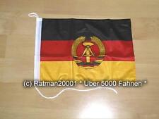 Fahnen Flagge DDR Bootsfahne Tischwimpel Biker - 27 x 40 cm