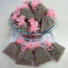Set of 30 Lavender Sachets made with Pink Organza Bags