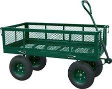 Sandusky Steel Crate Garden Wagon Heavy Duty Tools Green