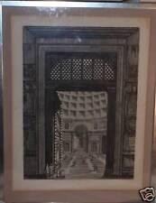 VEUDA DE LA- PORTA DEL PANTEON DI AGGRIPPA OLD ANTIQUE 19TH CENTURY PRINT