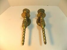 """Pair of brass wall candle sconces 9 1/2"""" long Made in India Set of 2"""