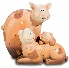 Comical Pigs Family Figurine Pig Figure Sculpture Statue Ornament