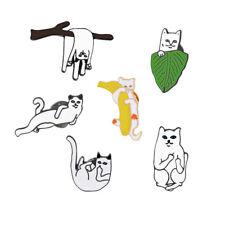 Pins Badge Corsage Cartoon Brooch Jewelry Charm Funny Cat Alien Enamel Collar