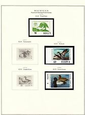 STATE OF MICHIGAN HUNTING PERMIT STAMPS 1976-2004 MOUNTED ON 5 PAGES BT6310