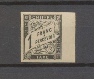Colonie Générale taxe N°12 1 Franc Noir Bord de feuille Superbe N* H2147