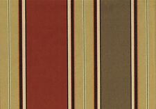 Richloom Fabric Wide Stripe Rust Gold Brown Burgundy Orange Drapery Upholstery