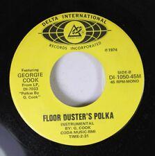 Polka Nm! 45 Georgie Cook - Floor Duster'S Polka / Cherie'S Waltz On Delta Inter