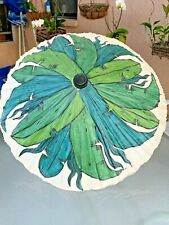 Vintage Wooden Hand Painted Asian Parasol Umbrella