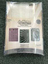 Tim Holtz Texture Trades Alterations Embossing Folders Playing Games Set