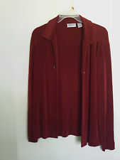 CHICO'S TRAVELERS Women's Slinky Stretch Acetate Shirt Jacket Top Size 1