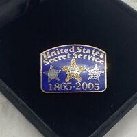 UNITED STATES Secret Service Pin Badge Blue Enamel 1965-2005 Collectable