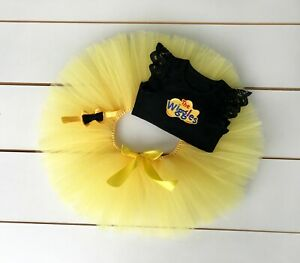 The Wiggles Cake Smash Outfit - 3 Piece First Birthday Tutu Set - Emma Wiggle