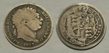 ☆ Authentic ! ☆ 200 Year Old Silver Six Pence ! ☆ King George Iii ☆