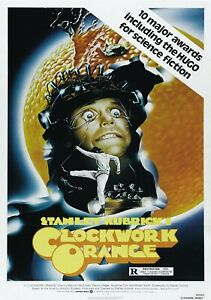 A CLOCKWORK ORANGE Classic 70's Vintage Movie Poster - Wall Film Art Print