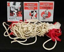 Vintage Magic Tricks How to Books Knots Hankerchiefs Ropes