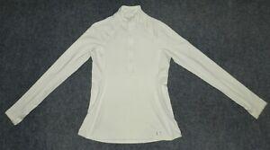 UNDER ARMOUR WOMEN'S COLDGEAR COZY 1/2 ZIP PULLOVER 1239153 Ivory sz L Pullover