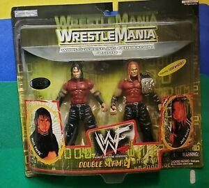 WWF Jakks Wrestlemania 2000 Double Slam 4 Matt & Jeff Hardy Boyz Figure 2-Pack