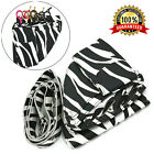 PU LEATHER BARBER SALON SCISSOR SHEAR HOLSTER CASE POUCH WITH WAIST BELT ZEBRA