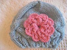 Blue Handmade Knitting Crochet  Newborn Hat For Infant Babies (0-3 months)
