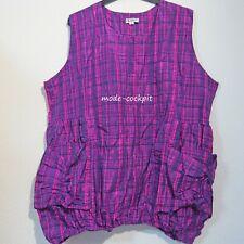 LA BASS süße Tunika Long Shirt Long Top + Taschen Taft pink-schwarz 52-54-56 (3)