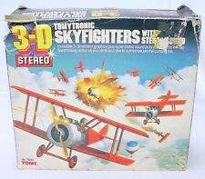 Tomy Tomytronic 3-D Japan SKYFIGHTERS Handheld STEREO TABLETOP Game Boxed! RARE!