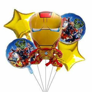 Avengers IronMan Foil Balloons Pack - Child - Adult - Birthday -