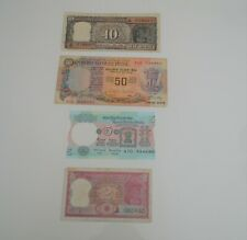 Lot of 4 Banknote India 1978 50 Rupees 1975 5 10 Ten 2 Two