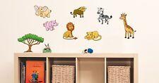 "Wandsticker Set ""Safari"" klein, Wanddekoration, Sticker Wandtattoo Afrika Kinder"