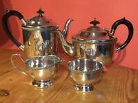 Antique Silver Plate EPNS 4 Piece Tea Service Sheffield England