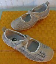 Merrell mesh mary jane taupe gray athletic shoe ortholite insole Womens Sz 9 EUC