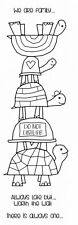 Woodware Clear Magic Stamp Set Tortoise Family FRS382