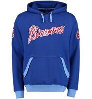 MLB Majestic Atlanta Braves Cooperstown Third Wind Pullover Hoodie Jacket