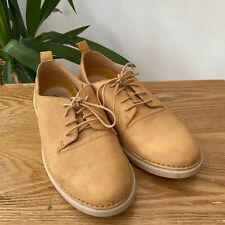 Clarks Active Air Leather Light Tan Camel Coloured Shoes Sz 7.5 EU 41.5