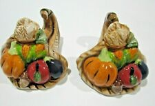 Blue Sky Clayworks Heather Goldminc Cornucopia Thanksgiving Salt Pepper Shakers
