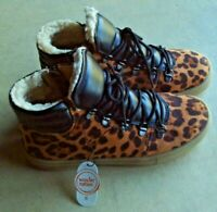 Wonder Nation leopard print boots girls' size 6 NWT