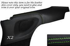 Verde Stitch 2x Puerta Trasera Tarjeta Panel De Piel Cubre se adapta a Porsche Carrera 997 04-11